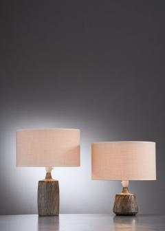 R rstrand Studio Gunnar Nylund a synchronic pair of ceramic table lamps Sweden - 2006294