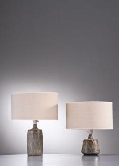 R rstrand Studio Gunnar Nylund a synchronic pair of ceramic table lamps Sweden - 2006295