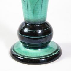 R rstrand Swedish Art Deco Glazed Ceramic Cylindrical Vase by Ilse Claesson for R rstrand - 1866341