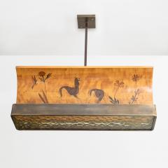 REINERS MOBLER REINERS MOBLER MARQUETRY PENDANT MJ LBY SWEDEN  - 1229553