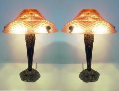 Ranc Freres Beautiful Pair of French Art Deco Table Lamps Signed Ranc Freres circa 1930 - 1876302