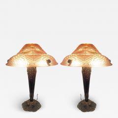 Ranc Freres Beautiful Pair of French Art Deco Table Lamps Signed Ranc Freres circa 1930 - 1876595