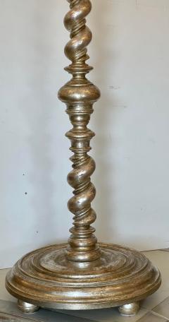 Randy Esada Designs White Gold Spanish Colonial Giltwood Designer Floor Lamp Malaga by Randy Esada - 2126627
