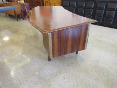 Raphael Furniture A French Modern Figured Palisander Brass and Leather Trimmed Executive Desk - 566545