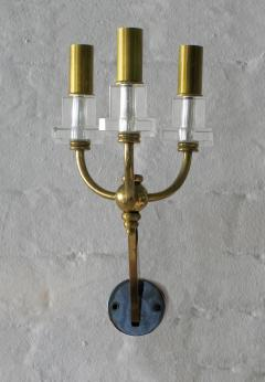 Raphael Furniture Brass and Lucite Sconces - 836590