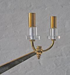 Raphael Furniture Brass and Lucite Sconces - 836593