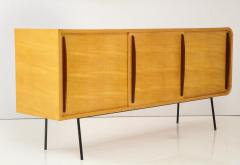 Raphael Furniture France Modernist Double Faced Sycamore Credenza by Raphael - 1116539