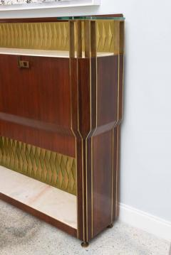 Raphael Furniture Rare French Modern Mahogany Bronze and Brass Bar Cabinet Raphael - 403393