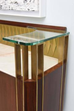 Raphael Furniture Rare French Modern Mahogany Bronze and Brass Bar Cabinet Raphael - 403395