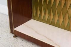 Raphael Furniture Rare French Modern Mahogany Bronze and Brass Bar Cabinet Raphael - 403396