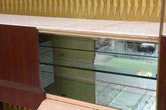 Raphael Furniture Rare French Modern Mahogany Bronze and Brass Bar Cabinet Raphael - 403398