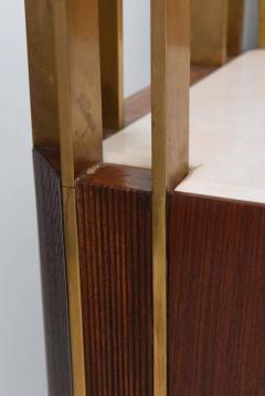 Raphael Furniture Rare French Modern Mahogany Bronze and Brass Bar Cabinet Raphael - 403399