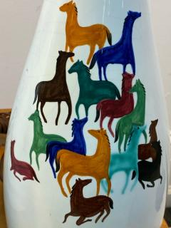 Raymor PAIR OF MID CENTURY CERAMIC LAMPS WITH COLORFUL HORSES BY RAYMOR - 1557415