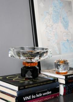 Reflections Copenhagen Arizona Crystal Candleholder Handsculpted Contemporary Crystal - 887325