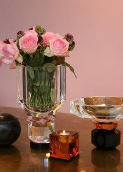 Reflections Copenhagen Arizona Crystal Candleholder Handsculpted Contemporary Crystal - 887326