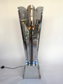 Reggiani Floor Lamp Sculpture Metal Chrome by Reggiani Italy 1970s - 519480