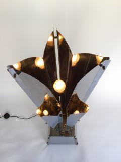 Reggiani Floor Lamp Sculpture Metal Chrome by Reggiani Italy 1970s - 519481