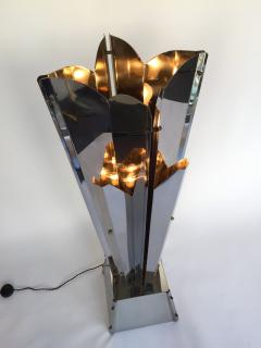 Reggiani Floor Lamp Sculpture Metal Chrome by Reggiani Italy 1970s - 519482