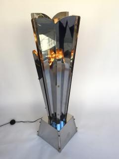 Reggiani Floor Lamp Sculpture Metal Chrome by Reggiani Italy 1970s - 519483