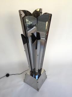 Reggiani Floor Lamp Sculpture Metal Chrome by Reggiani Italy 1970s - 519484