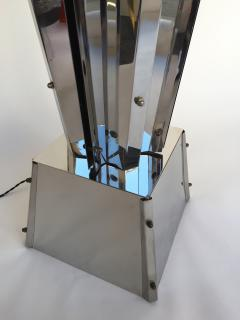 Reggiani Floor Lamp Sculpture Metal Chrome by Reggiani Italy 1970s - 519486