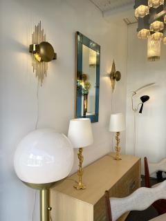 Reggiani Pair of Brass Sun Sconces Italy 1970s - 2020375