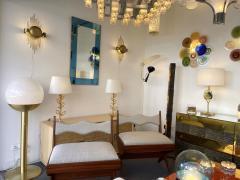 Reggiani Pair of Brass Sun Sconces Italy 1970s - 2020377