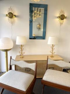 Reggiani Pair of Brass Sun Sconces Italy 1970s - 2020378