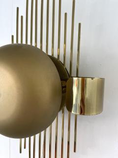 Reggiani Pair of Brass Sun Sconces Italy 1970s - 2020379