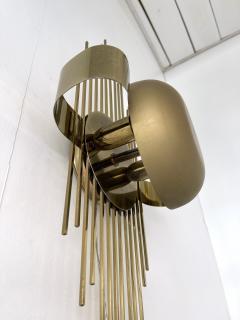 Reggiani Pair of Brass Sun Sconces Italy 1970s - 2020381