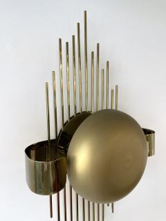 Reggiani Pair of Brass Sun Sconces Italy 1970s - 2020382