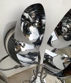 Reggiani Pair of Metal Chrome Articulated Floor Lamps by Reggiani Italy 1970s - 1226542