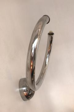 Reggiani Pair of Metal Ring Sconces by Reggiani Italy 1970s - 522082