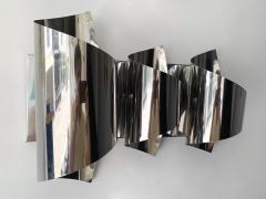 Reggiani Pair of Spiral Metal Chrome Sconces by Reggiani Italy 1970s - 1078496