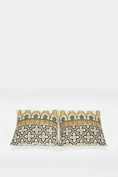 Reha Okay Set of 2 pillows with decorated fabric and gold application - 1782843