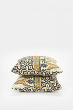 Reha Okay Set of 2 pillows with decorated fabric and gold application - 1782887