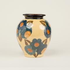 Ren Nicole French Art Deco ceramic flower vase by Ren Nicole - 1913919