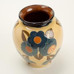 Ren Nicole French Art Deco ceramic flower vase by Ren Nicole - 1913925