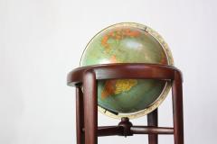 Replogle 1960s Replogle Illuminated Glass Globe on Mahogany Stand - 511946