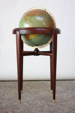 Replogle 1960s Replogle Illuminated Glass Globe on Mahogany Stand - 511947