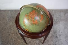 Replogle 1960s Replogle Illuminated Glass Globe on Mahogany Stand - 511951