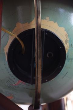 Replogle 1960s Replogle Illuminated Glass Globe on Mahogany Stand - 511953