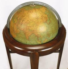 Replogle Replogle Illuminated Glass Globe on Mahogany Articulated Stand circa 1940s - 72528