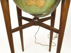 Replogle Replogle Illuminated Glass Globe on Mahogany Articulated Stand circa 1940s - 72530