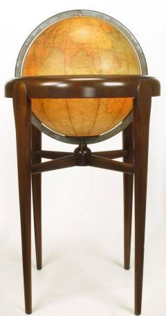Replogle Replogle Illuminated Glass Globe on Mahogany Articulated Stand circa 1940s - 72531