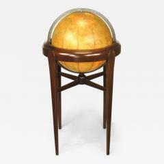 Replogle Replogle Illuminated Glass Globe on Mahogany Articulated Stand circa 1940s - 73295