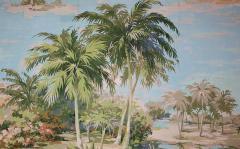 Richard Vigneux Richard Vigneux Large Oriental Painting Flamingos  - 791941