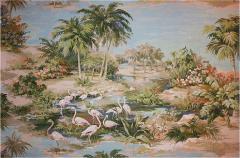 Richard Vigneux Richard Vigneux Large Oriental Painting Flamingos  - 866730