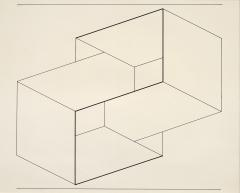 Robert Elkon Gallery Drawing of a Structural Constellation I II pair of drawings by Joseph Albers - 885794