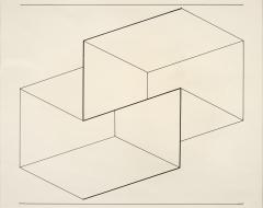 Robert Elkon Gallery Drawing of a Structural Constellation I II pair of drawings by Joseph Albers - 885799